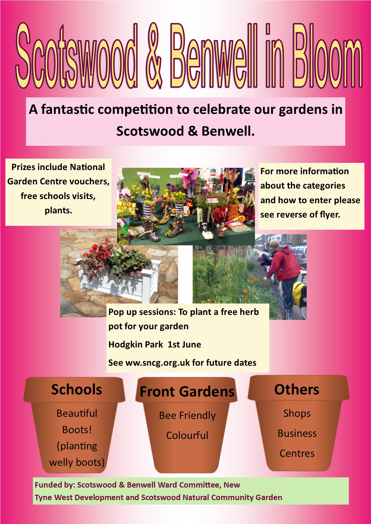 flyer for scotswood benwell bloom