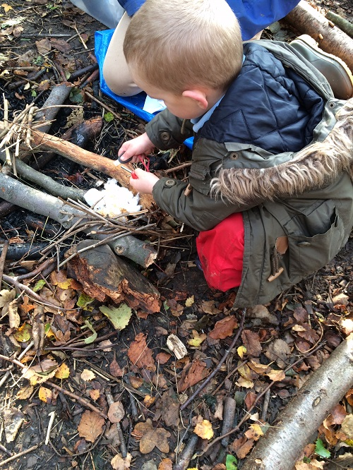 forest school fire lighting small