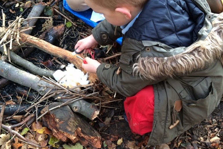 forest school fire lighting