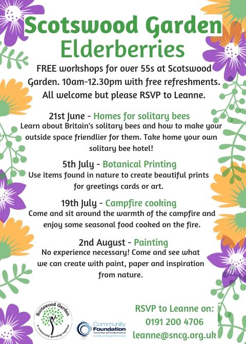 Elderberries Summer 2019 workshops