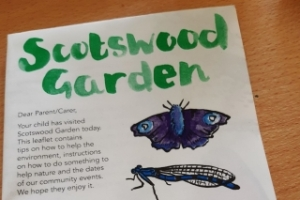 Scotswood Garden leaflet for school children